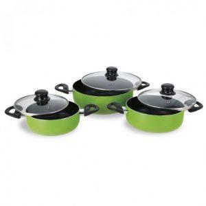 bateria de cocina de 6 piezas piazzolla verde taleggio 1