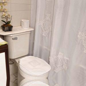 Set cortina de baño 6 piezas